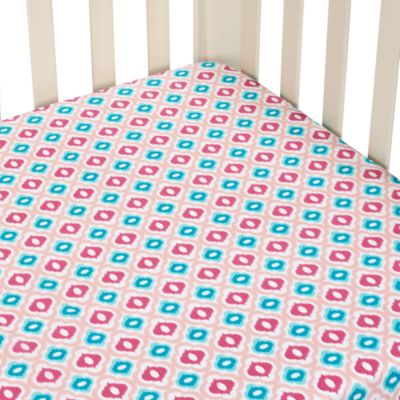 Caden Lane® Ikat Mod Pink Single Sheet