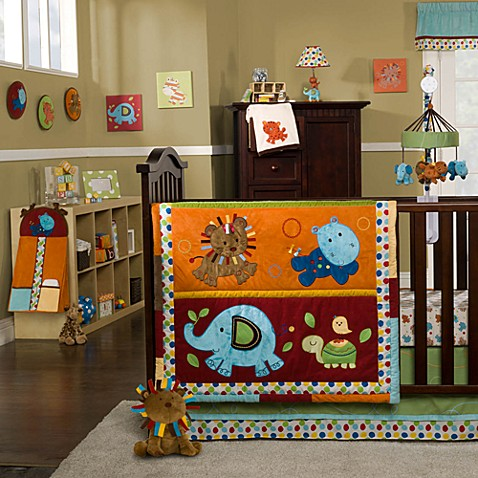 Kids Line™ Animal Parade 4-Piece Crib Bedding Set