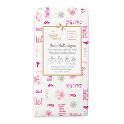 Swaddle Designs® It's A Small World Hello Swaddling Blanket in Berry