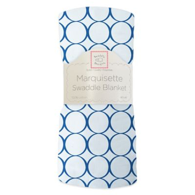 Swaddl in g Designs® Mod Circles Swaddling Blanket in Blue
