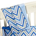 Caden Lane® Ikat Diamond Blue Piped Blanket