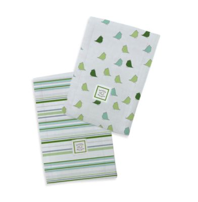 Swaddle Designs® Baby Burpie® Marquisette Green (Set of 2)