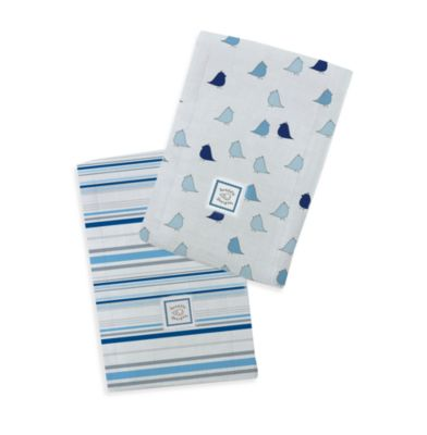 Swaddle Designs® Baby Burpie® Marquisette Blue (Set of 2)