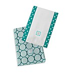 Swaddle Designs® Baby Burpie® Turquoise Mod Circles (Set of 2)
