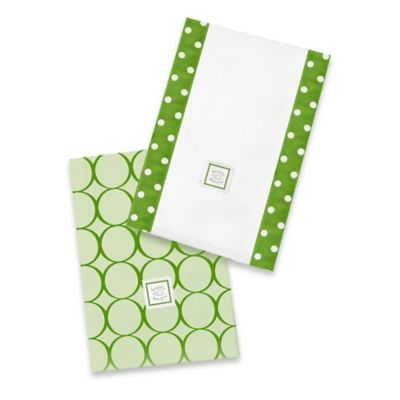Swaddle Designs® Baby Burpie® Green Mod Circles (Set of 2)