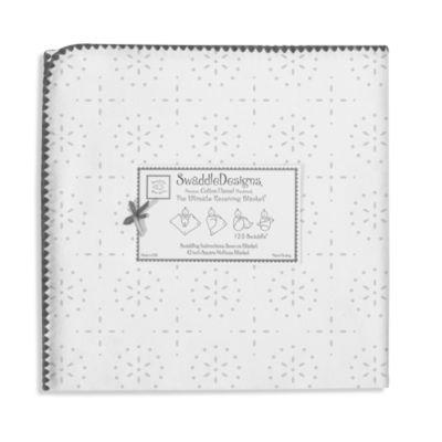Swaddle Designs® Sterling Sparklers Flannel Swaddling Blanket