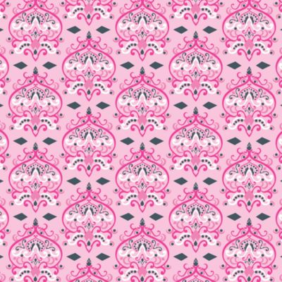 Caden Lane® Luxe Damask Pink Changing Pad Cover