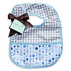 Caden Lane® Bib in Blue Lined Dots
