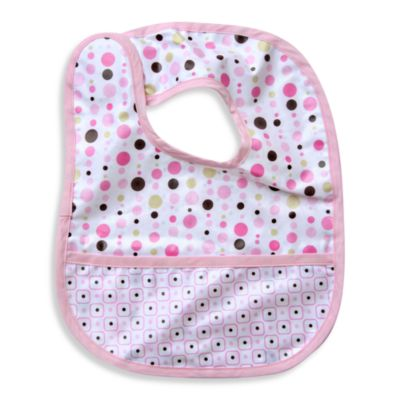 Caden Lane® Bib in Pink Lined Dots