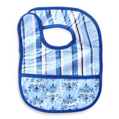 Caden Lane® Bib in Blue Pinstripe