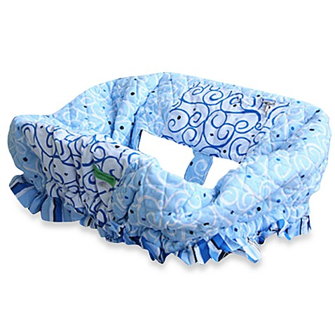 Caden Lane® Shopping Cart Cover in Swirl Blue