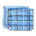 Caden Lane® Burp Cloth 2-Pack in Blue Plaid