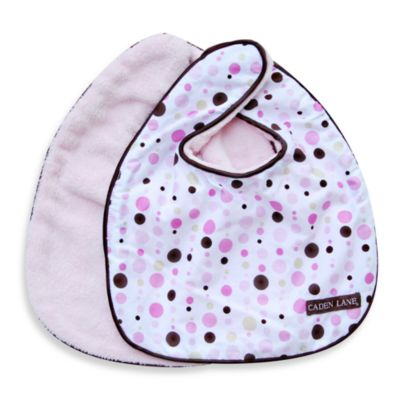 Caden Lane® Classic Dot Line 2-Pack Bib Set in Pink
