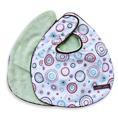 Caden Lane® Bib 2-Pack in Green Solid & Red Dot