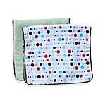 Caden Lane® Burp Cloth 2-Pack in Classic Red Dot Line