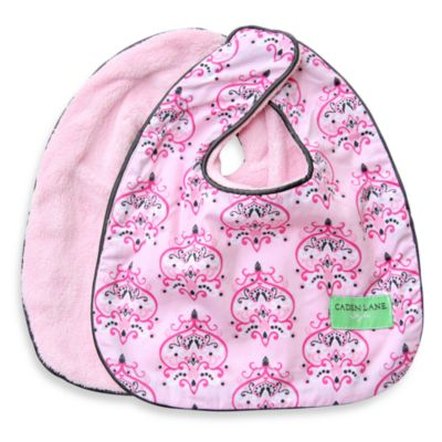 Caden Lane® Bib 2-Pack in Pink Solid & Pink Damask