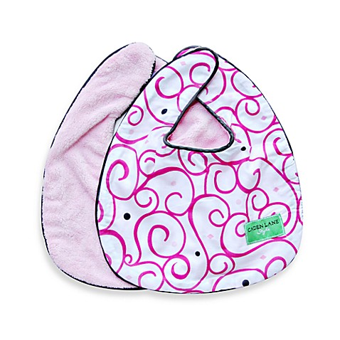 Caden Lane® Bib 2-Pack in Pink Solid & Pink Swirl