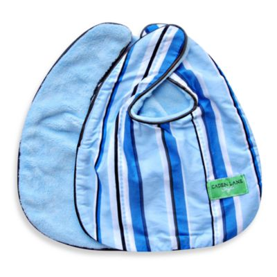 Caden Lane® Bib 2-Pack in Blue Solid & Blue Pinstripe