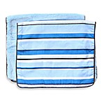 Caden Lane® Burp Cloth 2-Pack in Blue Solid & Blue Pinstripe
