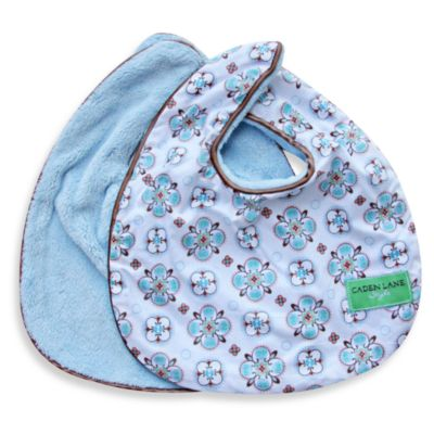 Caden Lane® Modern Vintage Small Moroccan Print 2-Pack Bib Set in Blue