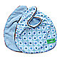 Caden Lane® Modern Vintage Octagon 2-Pack Bib Set in Blue