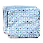 Caden Lane® 2-Pack Modern Octagon Piped Burp Cloths