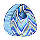 Caden Lane® Ikat Chevron 2-Pack Bib Set in Blue