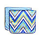 Caden Lane® Ikat Chevron 2-Pack Burp Cloths in Blue