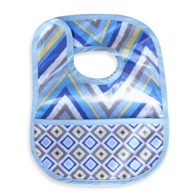 Caden Lane® Chevron/Diamond Reversible Coated Bib in Blue