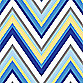 Caden Lane® Ikat Blue Chevron Changing Pad Cover