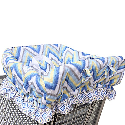 Caden Lane® Ikat Shopping Cart Cover In Chevron Blue