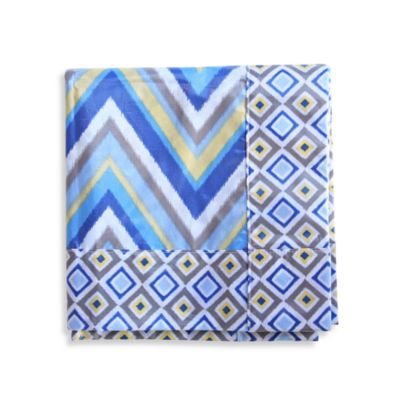 Caden Lane® Ikat Spill Mat in Blue Chevron