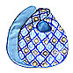 Caden Lane® Ikat Bib 2-Pack in Blue Solid & Blue Mod Print