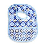 Caden Lane® Ikat Bib in Blue Mod Print