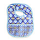 Caden Lane® Mod/Diamond Reversible Coated Bib in Blue