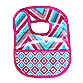 Caden Lane® Ikat Bib in Pink Chevron