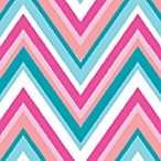 Caden Lane® Ikat Pink Chevron Changing Pad Cover