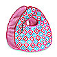 Caden Lane® Ikat Bib 2-Pack in Pink Solid & Pink Diamond