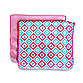 Caden Lane® Ikat Burp Cloth 2-Pack in Pink Solid & Pink Diamond