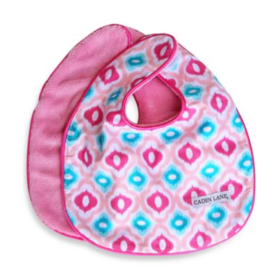 Caden Lane® Ikat Mod 2-Pack Bib Set in Pink