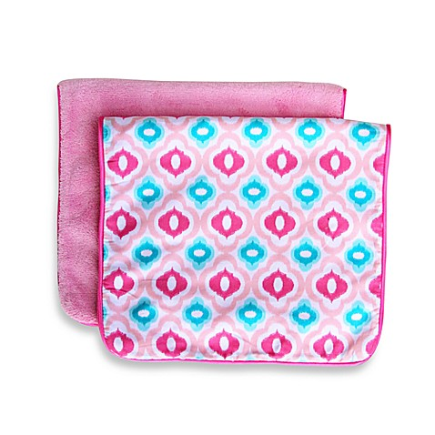 Caden Lane® Ikat Mod 2-Pack Burp Cloths in Pink