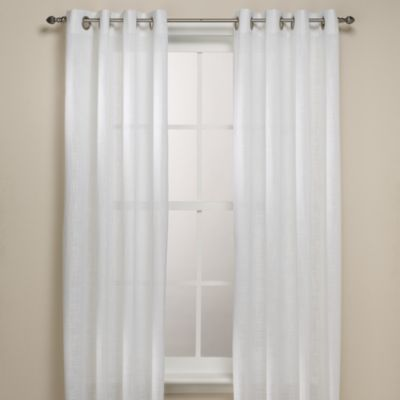 buy alton solid grommet 108 inch window curtain panel in white from bed bath beyond. Black Bedroom Furniture Sets. Home Design Ideas
