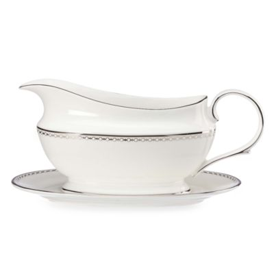 Lenox® Pearl Platinum™ Gravy Boat and Stand