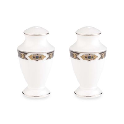 Lenox® Vintage Jewel® Salt and Pepper Shakers in White