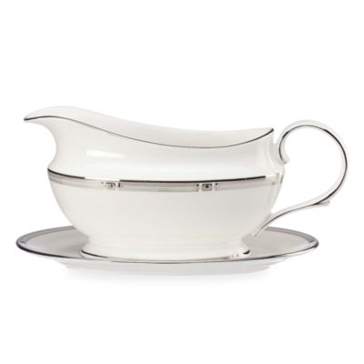 Lenox® Westerly Platinum Gravy Boat and Stand