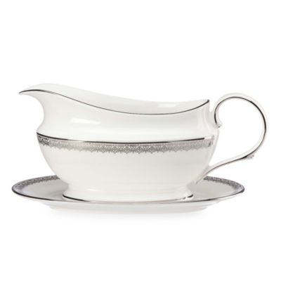Lenox® Lace Couture Sauce Boat and Stand in White