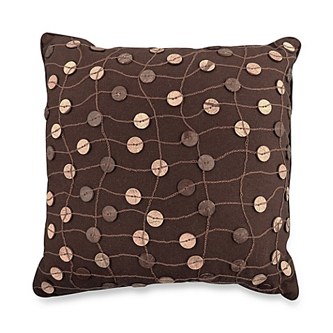The Vintage House by Park B. Smith® Button Throw Pillow in Woodland