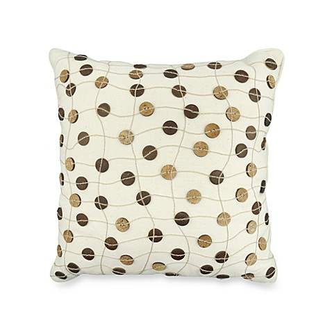 The Vintage House by Park B. Smith® Button Throw Pillow in Natural