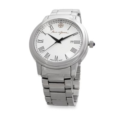 Mark & James by Badgley Mischka Stainless Steel Bracelet Watch