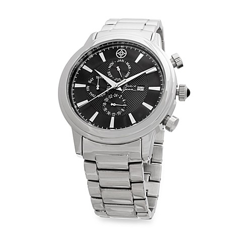 Mark & James by Badgley Mischka Stainless Steel Multifunctional Watch